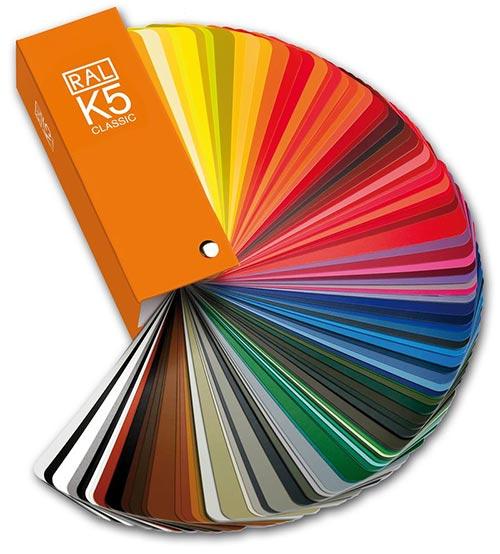 RAL Farbauswahl Karte Fächer