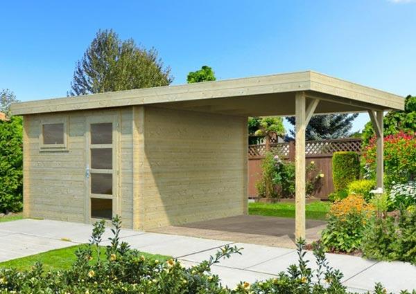 Gartenhäuser mit Pultdach