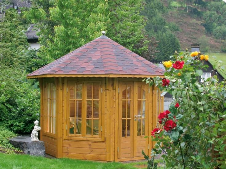 Pavillon Milano 3.0 mit farbigen Dachschindeln