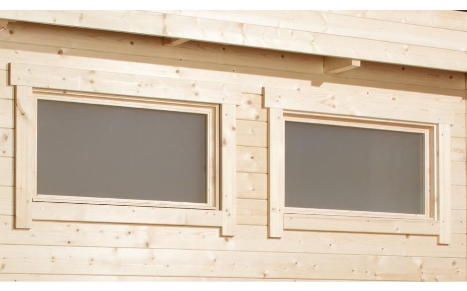 Varianta 40 2-Raum Gartenhaus mit zwei Kipp-Einzelfenstern