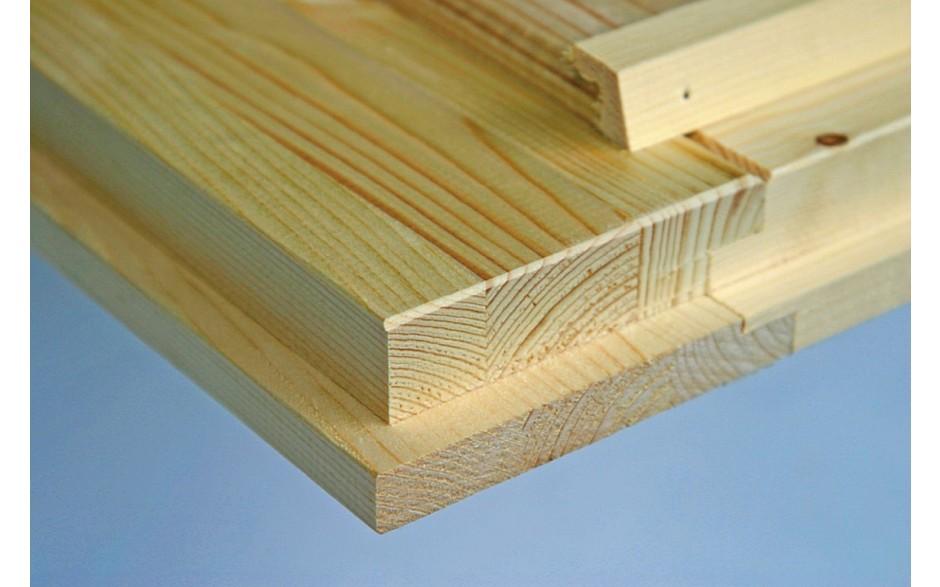 das Varianta B Basic Gartenhaus besteht aus Qualitäts-Fichtenholz