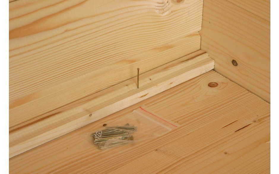 18 mm Holz für den Fußbodenbereich des Gartenhauses Varianta 40 2-Raum