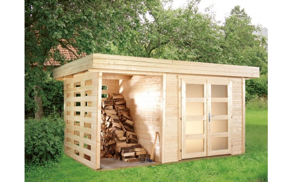 Varianta A-Set 2 Gartenhaus als Holzlager