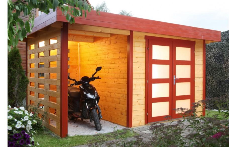 Varianta A-Set 2 Gartenhaus als Roller-Unterstand