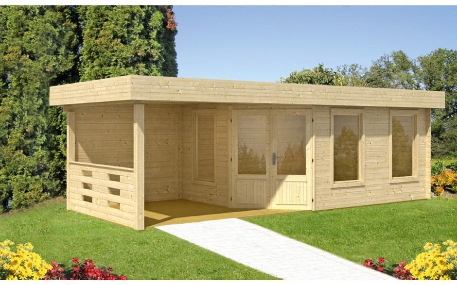 Gartenhaus Maja 40-B/1 mit 2,50 mtr. Terrasse