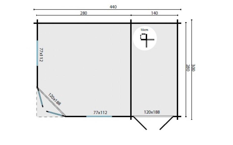 Grundriss des Gartenhauses Emmendingen