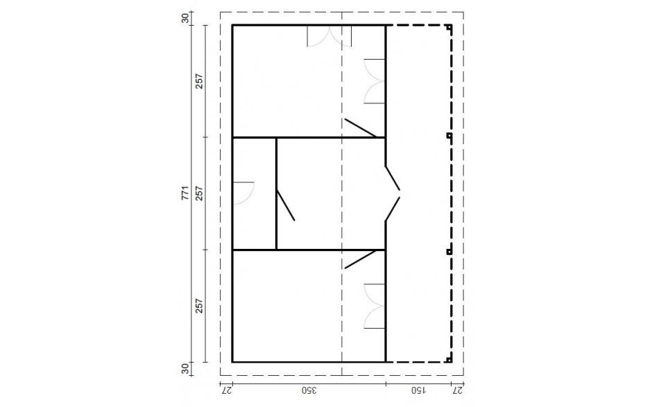 Grundriss des Freizeithauses Dülmen