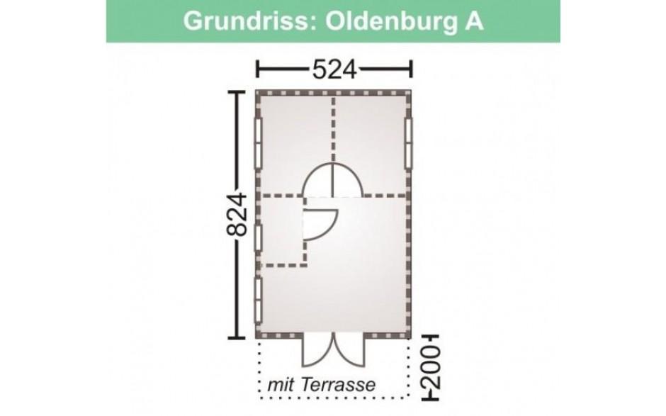 Grundriss des Freizeithauses Oldenburg 70-A