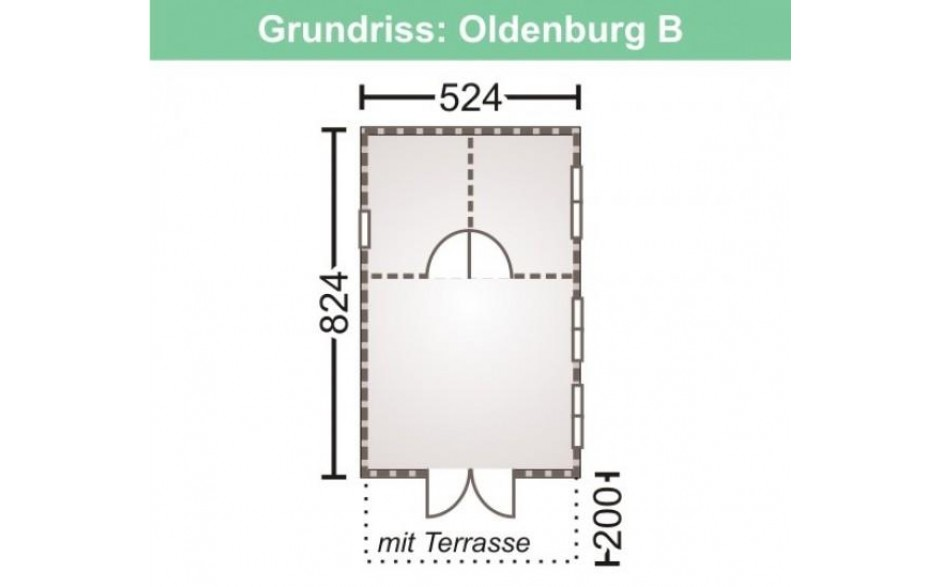 Grundriss des Freizeithauses Oldenburg 70-B