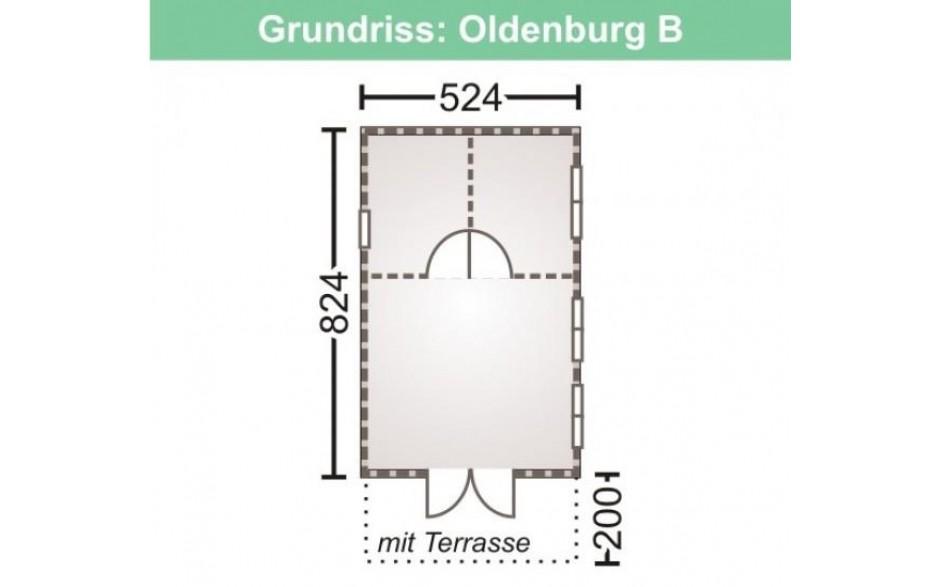 Grundriss des Freizeithauses Oldenburg 44-B