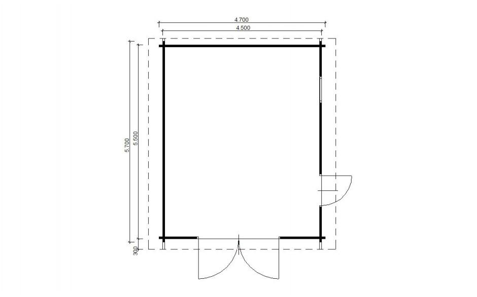 Grundriss der Garage Kornwestheim