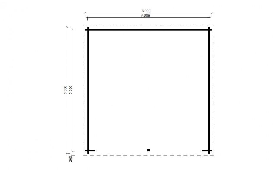 Grundriss der Garage Leinfelden
