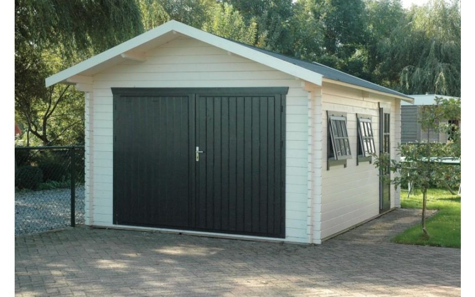 Garage Wiesloch mit grünem Garagentor