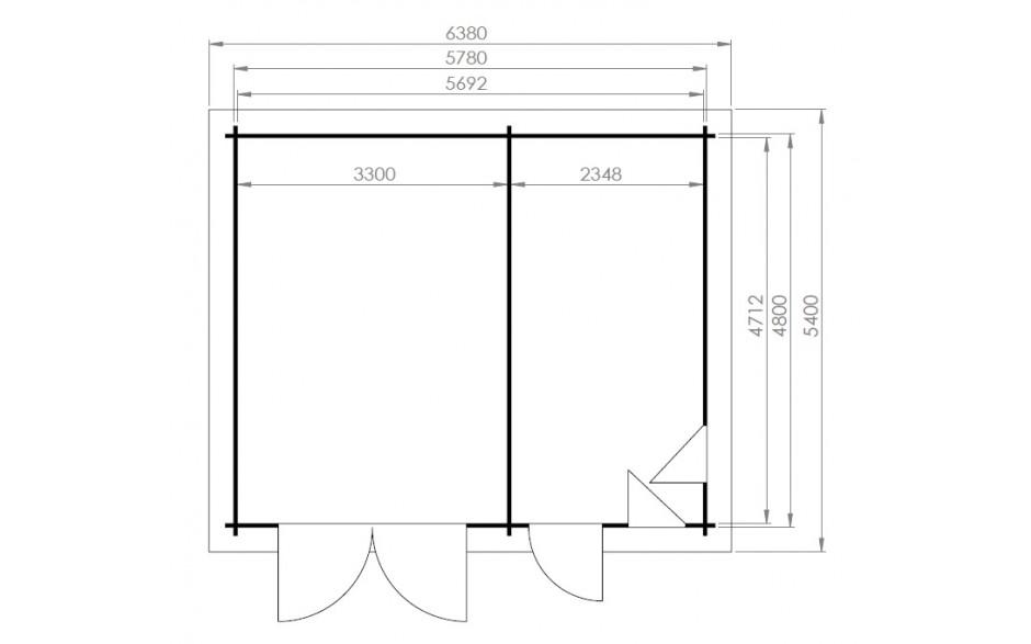 Grundriss der Garage Rosenheim