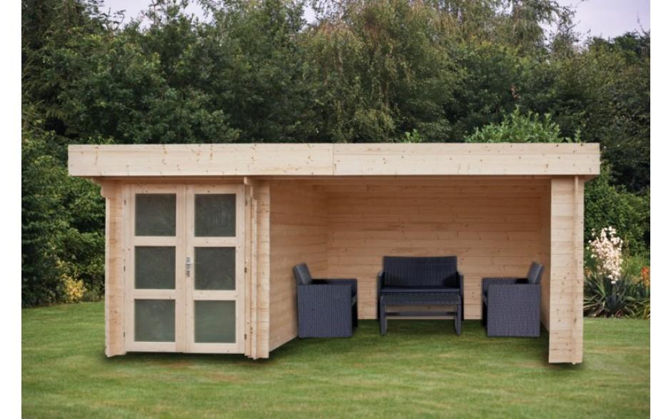 Gartenhaus mit unterstand - Werkstattofen im gartenhaus ...