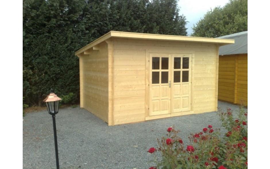 Gartenhaus Achim 44-B aus naturbelassenem Fichtenholz