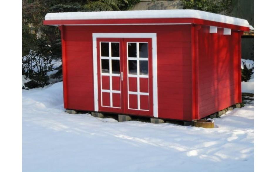 Gartenhaus Achim 44-D im auffälligen Rot