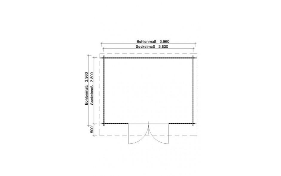 Grundriss des Gartenhauses Achim 34 C