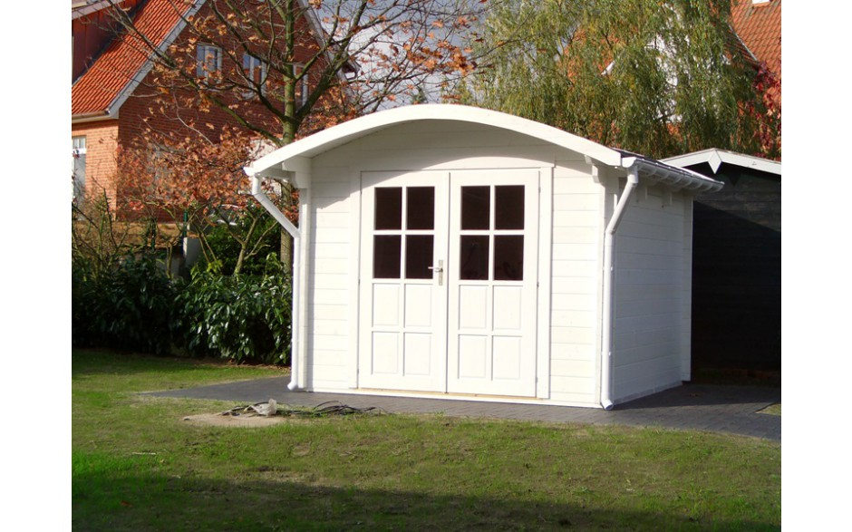Gartenhaus Bispingen A mit Doppeltür und Runddach