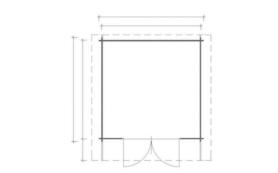 Grundriss des Gartenhauses Coburg 44 C