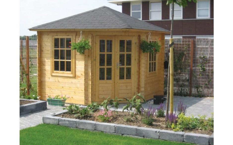 günstiges Gartenhaus Stuttgart A aus hellem Holz