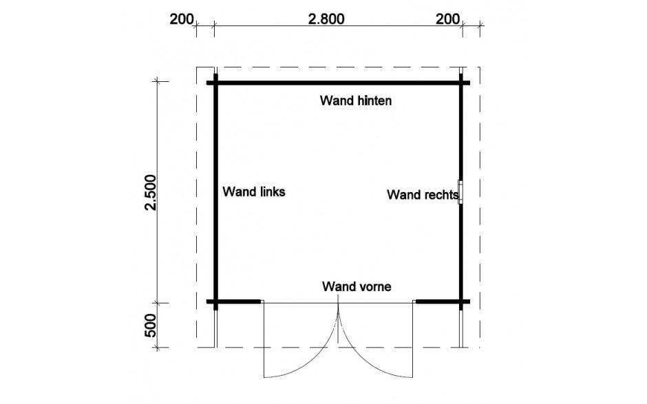 Grundriss des Gartenhauses Bispingen A