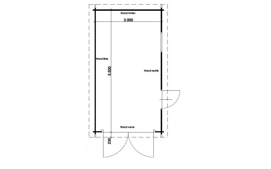 Grundriss der Garage Erlangen A