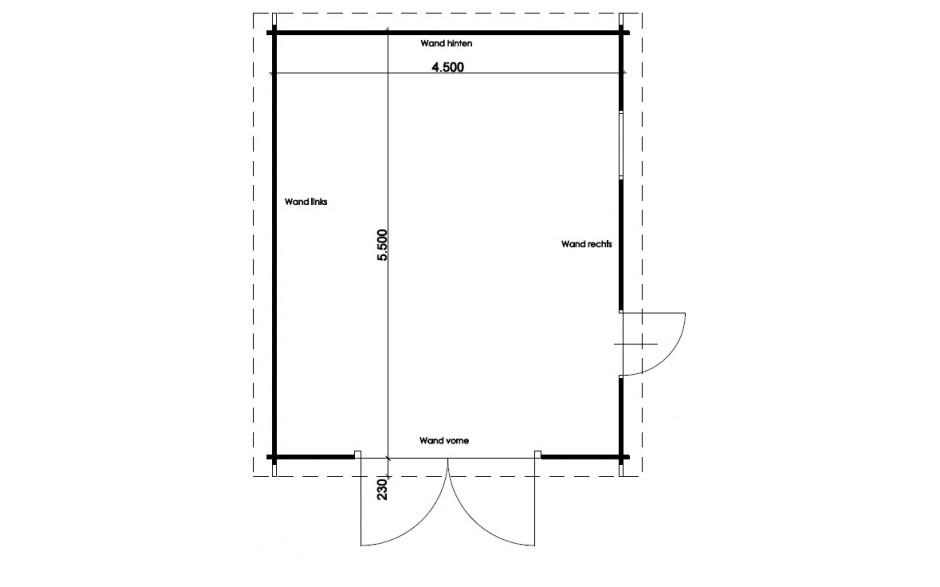 Grundriss der Garage Erlangen B
