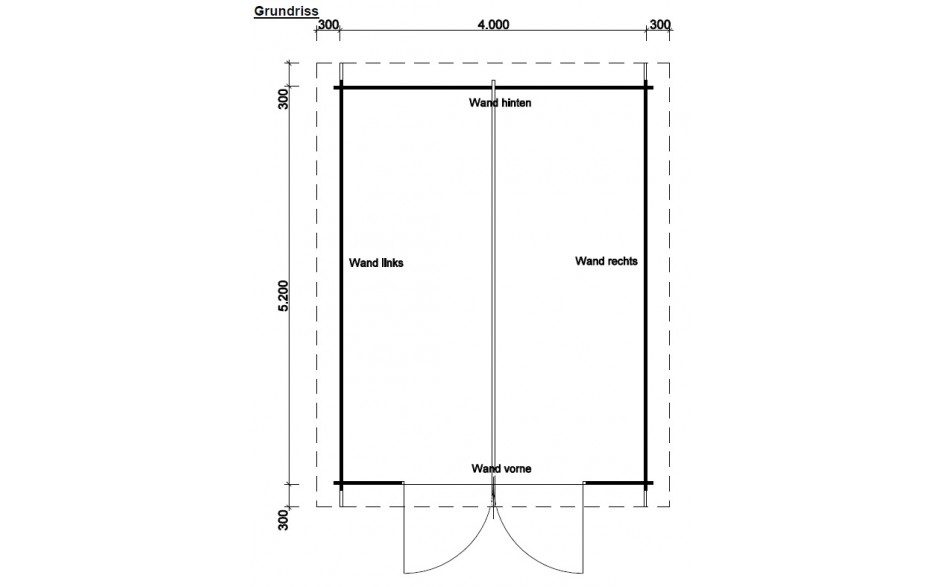 Grundriss des Gartenhauses Fürth C