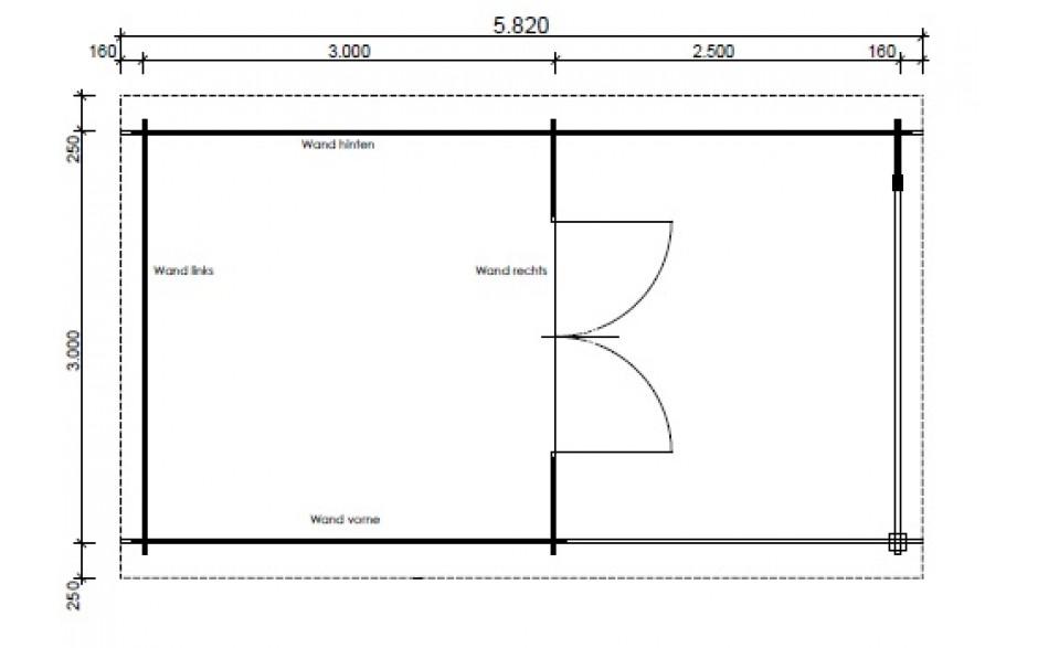 Grundriss des Gartenhauses Nürnberg E4