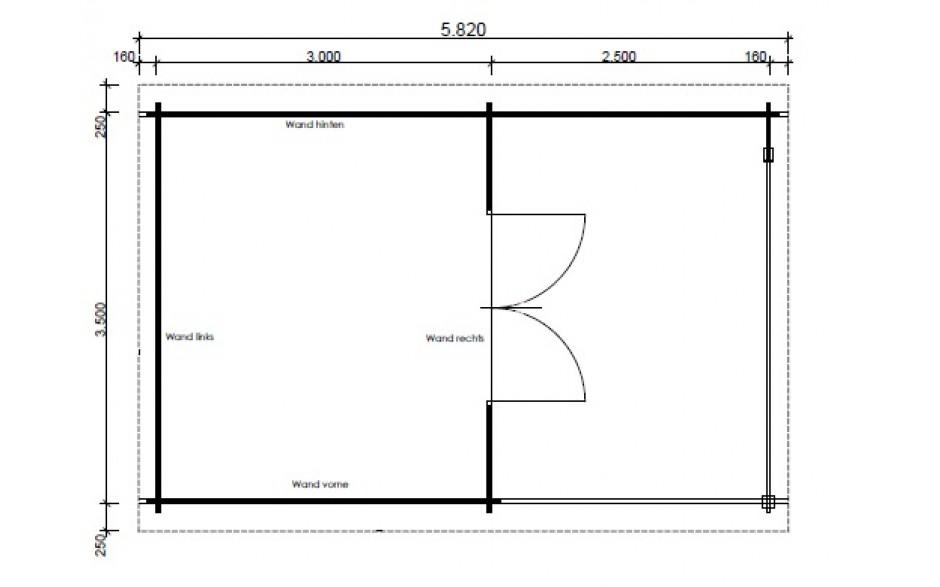 Grundriss des Gartenhauses Nürnberg F4