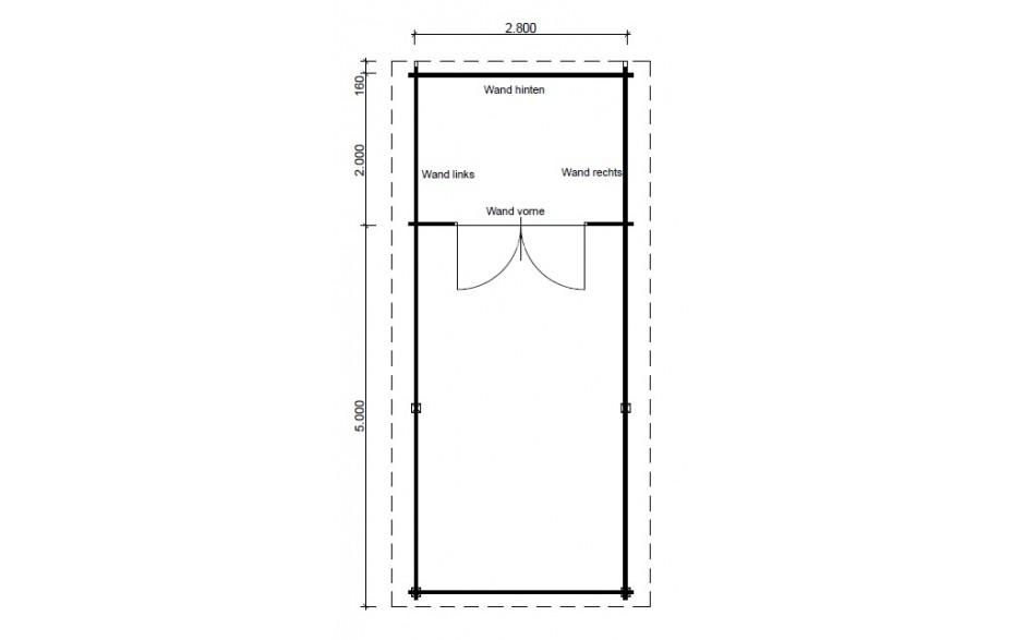 Grundriss des Satteldach-Carports I