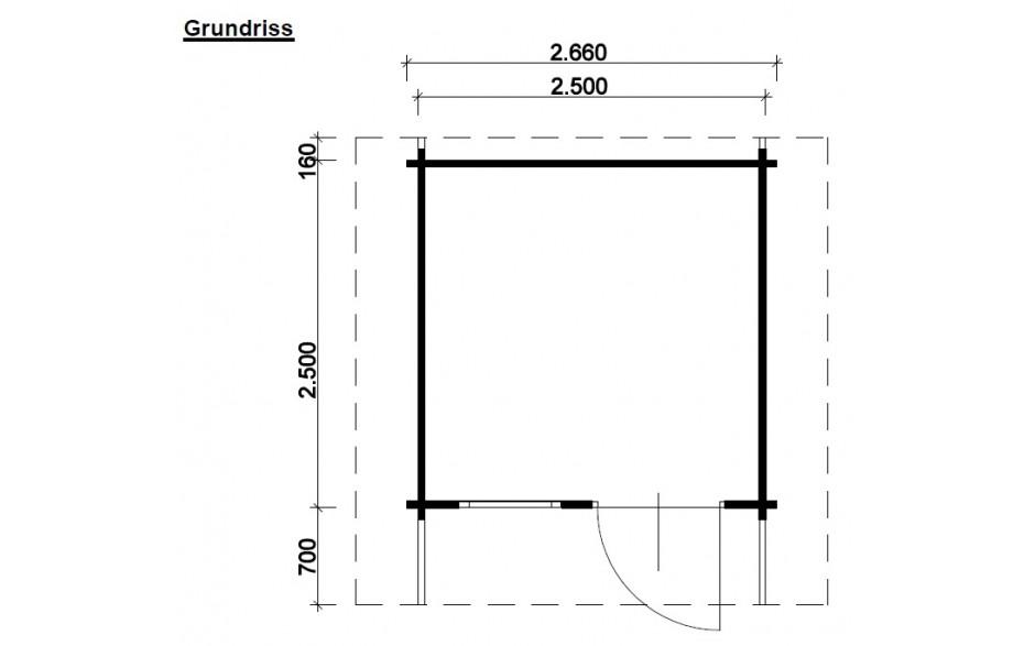 Grundriss des Gartenhauses Soltau B