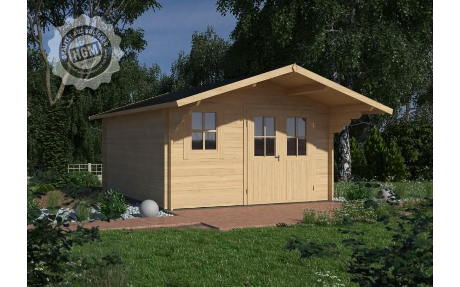 Gartenhaus Nienburg 44-C mit Boden + Isoglas
