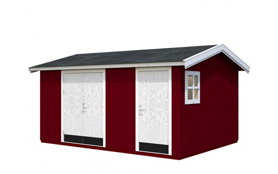 Rotes Gartenhaus Olaf 13.5