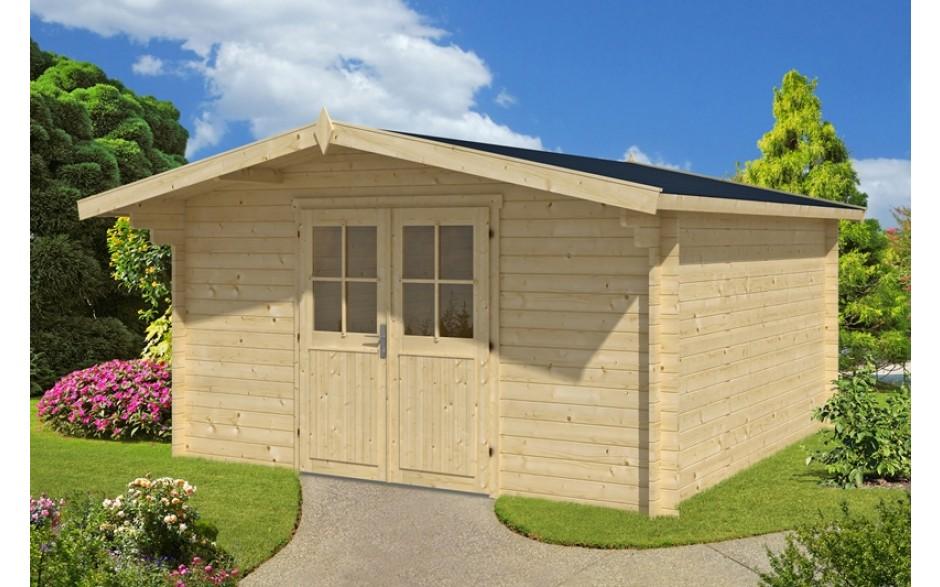 günstiges Gartenhaus Lasse aus Holz mit viel Platz