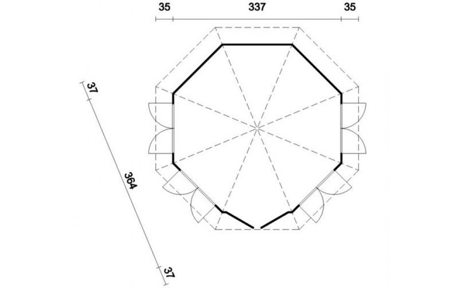 Grundriss des Pavillons Detmold B