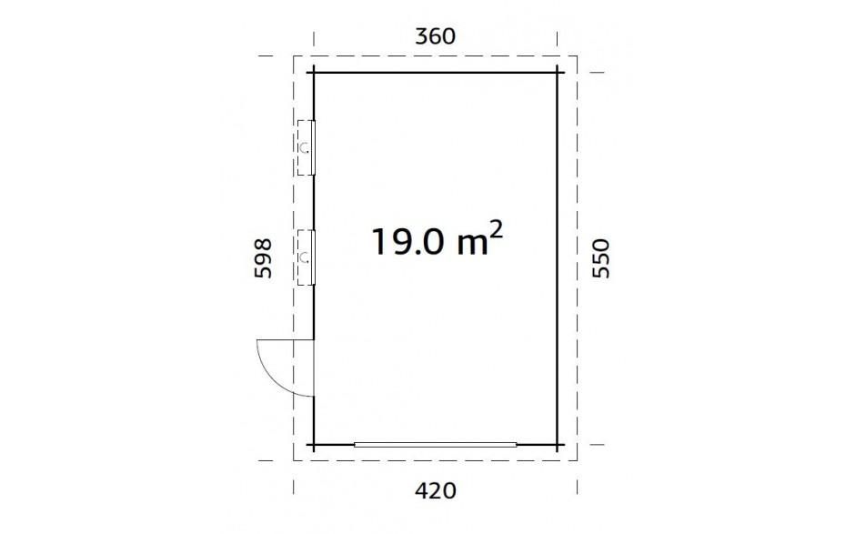 Grundriss der Garage Bergheim