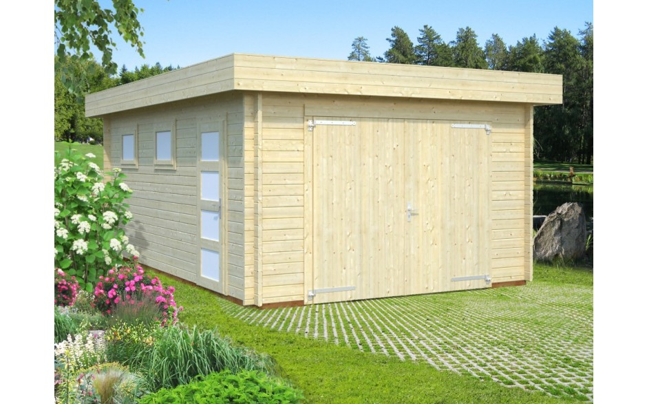 Garage Bergheim mit Holztor(Rasmus 19.0)