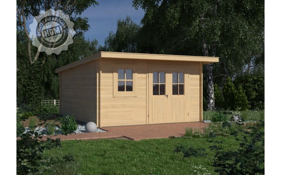 Gartenhaus Verden 44-C mit Boden + Isoglas