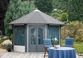 Pavillon Capri 3.5 mit farbigen Dachschindeln
