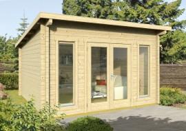 Gartenhaus Trondheim 70-B -Iso - Schleppdach möglich