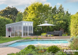 Pavillon Nova 13.0 mit Schiebetüren - Rahmenbau