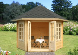 6 eck pavillons kaufen gartenhaus. Black Bedroom Furniture Sets. Home Design Ideas