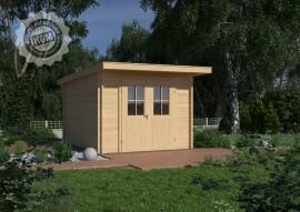 Gartenhaus Verden 44-A mit Boden + Isoglas