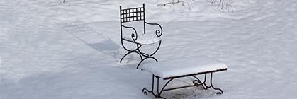 Ihr Holzgartenhaus und Garten im Winter