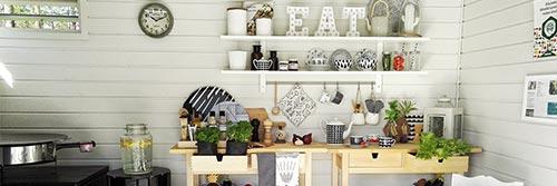 Die Küche im Gartenhaus nach Maß – praktisch und wohnlich