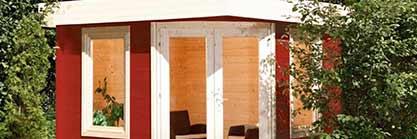 Ein modernes Holzgartenhaus ist günstig, funktional und vielseitig