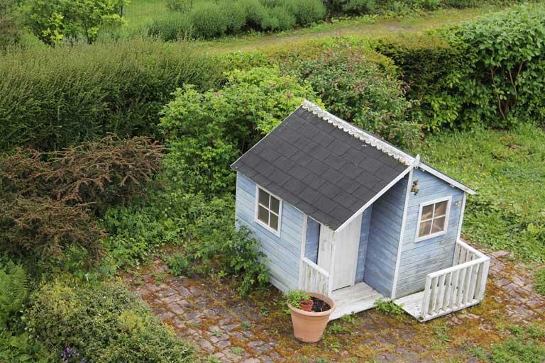 Gartenhütte Dach