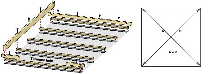 Grundfläche ausrichten und messen